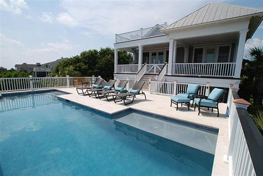 Pool & Deck - 7 Bedroom w/Pool & Partial Ocean View! - Isle of Palms - rentals