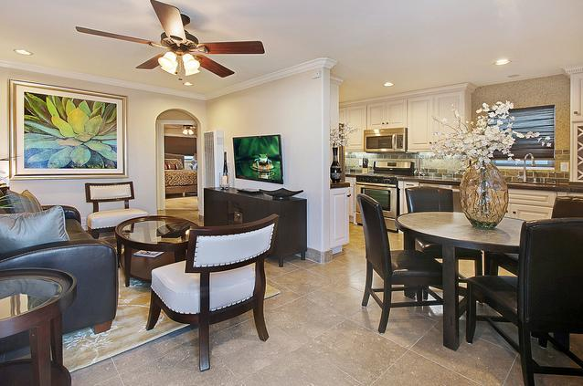 Living Room & Dining Area - Beautiful Balboa Gem - 8 Homes To Sand! - Newport Beach - rentals