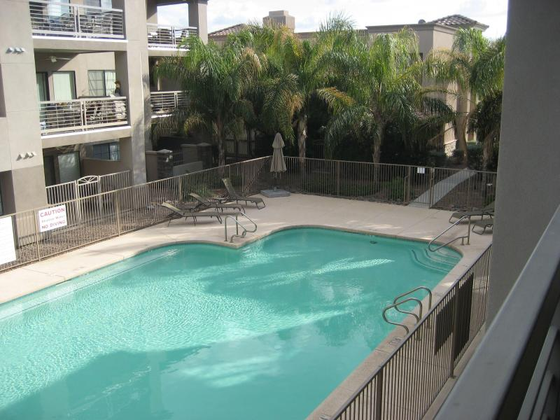 View of Pool from Patio - Lovely Condo in Scottsdale's Dream Location! - Scottsdale - rentals