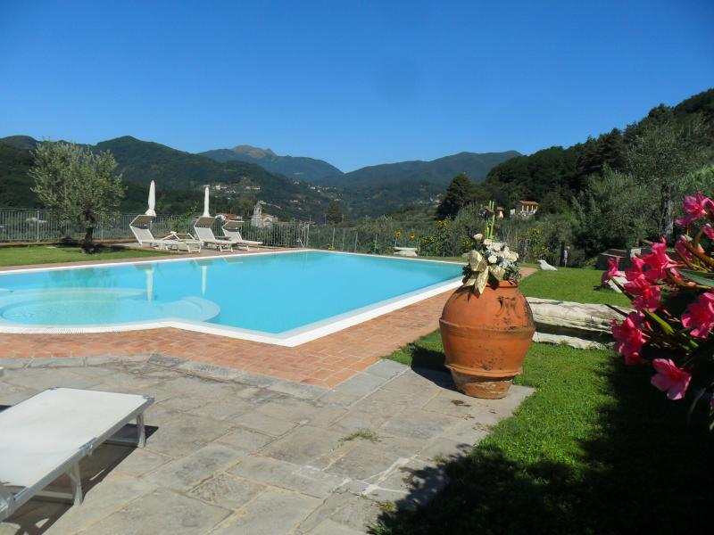 OUR INFINITY POOL - Lucca Farmhouse Villa with Pool, Wifi, and 1 Pizza - Lucca - rentals