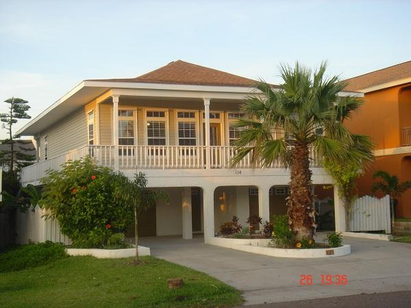 Front view of home - Tropical Island Retreat with Head Pool/Spa - South Padre Island - rentals