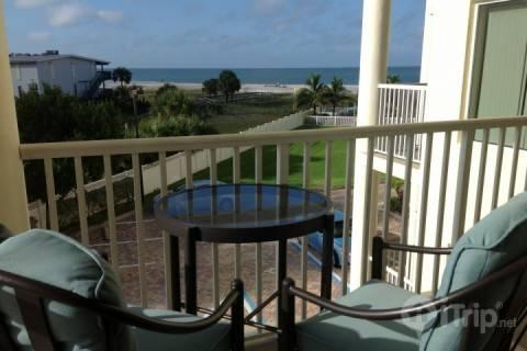 Private balcony looking out to the Gulf of Mexico - 306-S - Sunset Vistas - Treasure Island - rentals