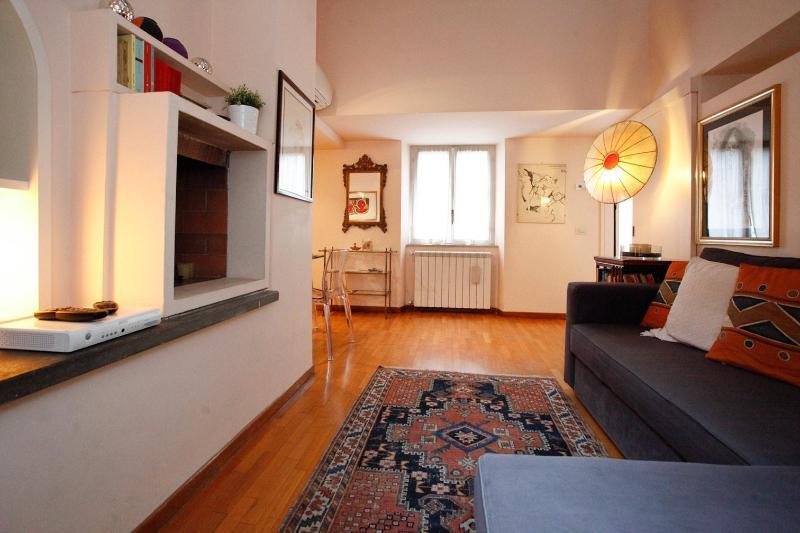 living room - Rome, Palazzo Montemarte, Castore apartment - Rome - rentals