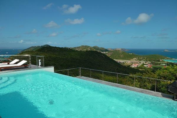 Contemporary villa overlooking the wonderful bay of St Jean WV KYR - Image 1 - Lurin - rentals