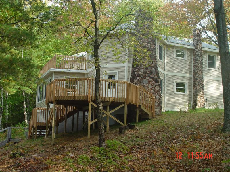House and Deck From Lake - The Lodge at Hipoint on Glovers Lake - Bear Lake - rentals