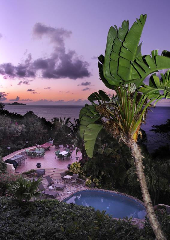Stunning sunsets are guarenteed each night from the wrap around deck at Sunset Watch beachside villa - 2 BR Beachfront/ Balcony/ Pool/ Steps from Beach! - Virgin Gorda - rentals