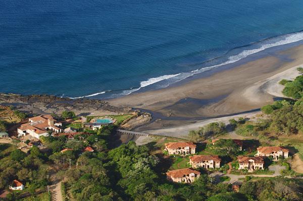 Areal View of Santana Beach, Rancho Santana Clubhouse & Puerta del Mar Villa's - The Surf Shack, Rancho Santana (on Playa Santana) - Tola - rentals