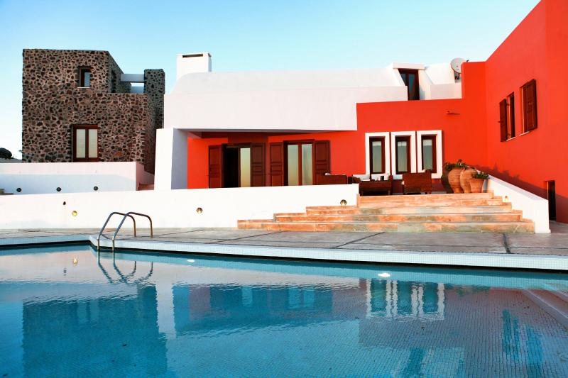 Luxury Island Villa on Santorini with Private Pool, Basketball Court, and Outdoor Chess Set - Villa Agnes - Image 1 - Imerovigli - rentals