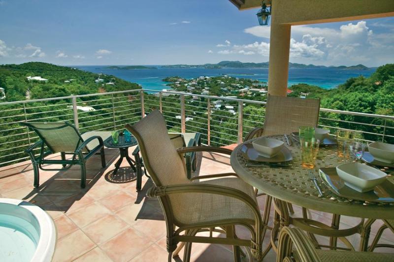 Patio - Ginger Thomas Luxury Villa Aug/Sep Special now - Cruz Bay - rentals
