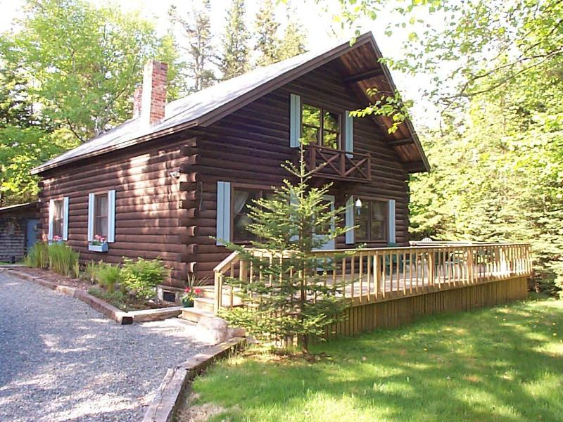 View of the front - Log Cabin in the Best Town on Mt. Desert Island - Southwest Harbor - rentals