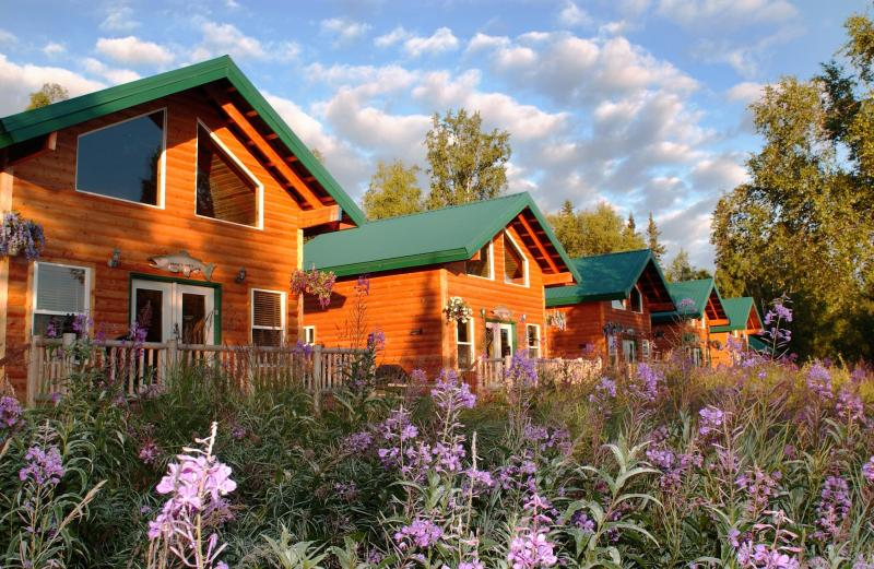 View of cabins from the Kenai RIver - World Famous Kenai River, in Soldotna, Alaska - Soldotna - rentals