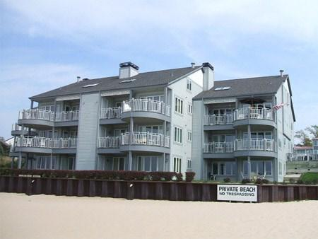The unit is the center balcony, 2nd level. - Waters Edge 5 - Weekly stays begin on Saturdays - South Haven - rentals