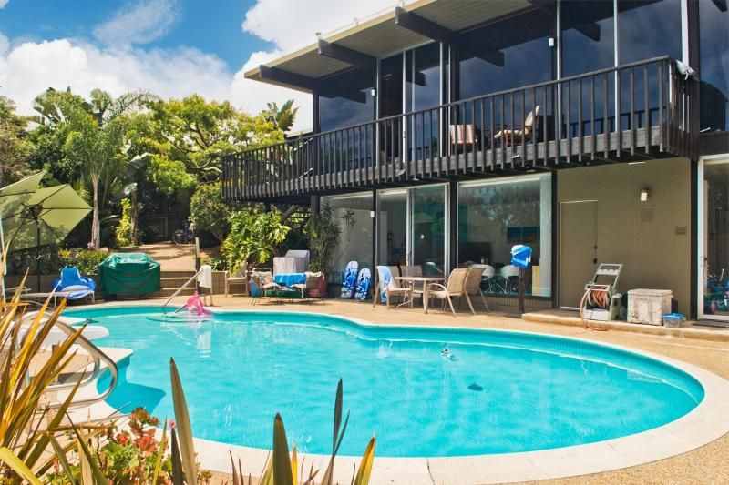 Pool house on pool level, Main house above - Poolside Guest House in San Diego Beach Community - Pacific Beach - rentals