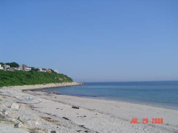 View from entrance to beach - Private Beach 4 Bdrm. minutes to Plymouth Rock - Plymouth - rentals