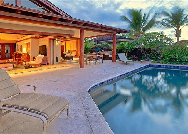 Exterior View of Home and Pool - Custom Luxury Residence in Exclusive Hualalai Resort - Kailua-Kona - rentals