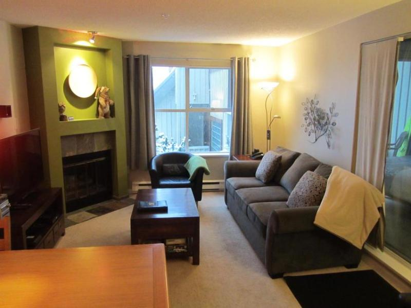 Living room with new queen Sofa bed. - Wildwood Lodge - Great Location! - Whistler - rentals
