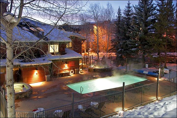 Heated Pool & 2 Large Hot Tubs - Open Winter & Summer. - Newly Remodeled & Only 113 Steps from Ski Access - Private Game Room w/ Pool Table, Air Hockey, Ping Pong, Foos Ball, Darts, & HDTV (3662) - Steamboat Springs - rentals