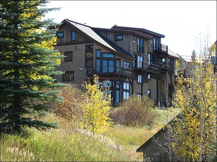 Exterior View shows the back side of this luxurious duplex home. - 8-Bedrooms Close to the Slopes, Base Area - Properties 9975 & 9976 Combined (9977) - Steamboat Springs - rentals