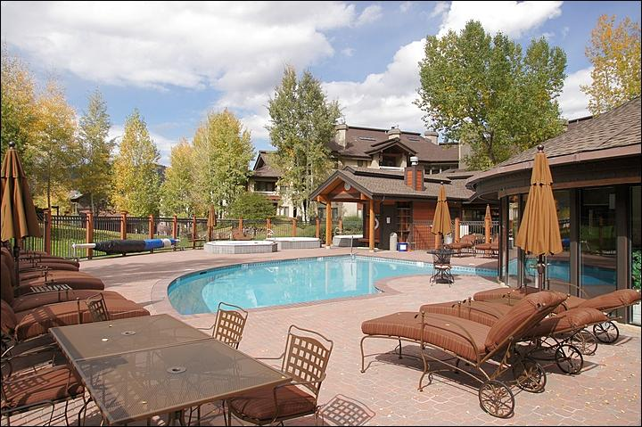 This is just 1 of the 4 Heated Pool & Hot Tub areas. - Great Location with Private Shuttle Service in Ski Season, City Shuttle Year Round - Private Patio with Hot Tub, Fireplace (11172) - Steamboat Springs - rentals