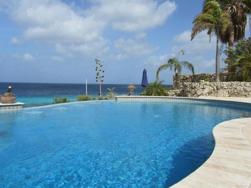 Pool with built in stools. Just steps from the sea. - Home sold contact Re/Max Bonaire - Bonaire - rentals