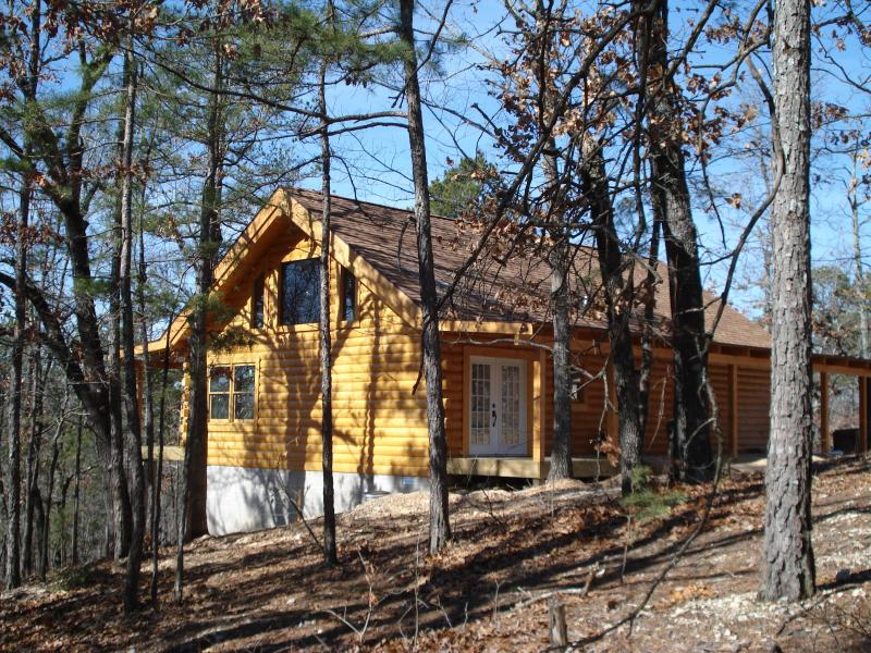 The Bear Cliff - New Real Log Cabin  w/ Secluded Forest Views, Lake - Ridgedale - rentals