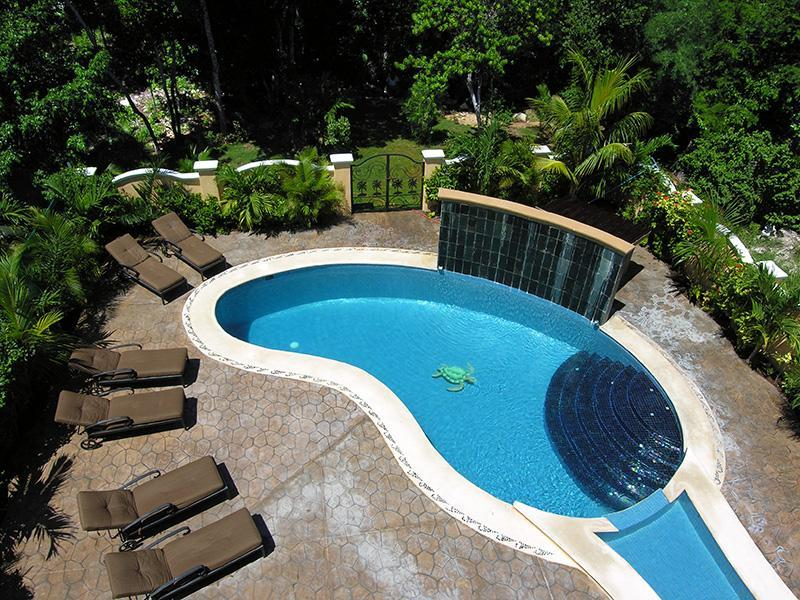 Pool from the roof top - 5 BR Secluded Luxury Villa with large Private Pool - Playa del Carmen - rentals