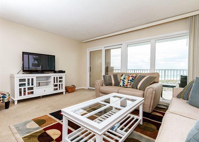 This corner unit allows maximum natural light in Brand new furni - GS 203: Beach front with wrap-around balcony, Free Beach Service, GREAT VIEWS - Fort Walton Beach - rentals