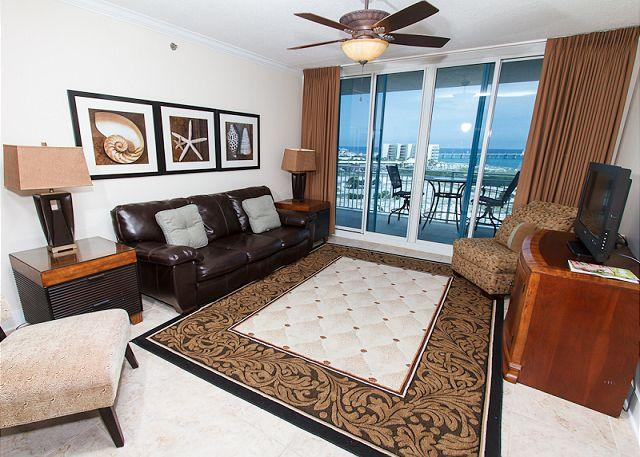 Living Room - WS:A623: AMAZING AMENITIES,great furnishings,beautiful condo -MUST SEE!!! - Fort Walton Beach - rentals
