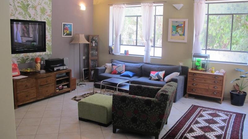 our living room - great cosy apartment minutes walk from the beach - Herzlia - rentals