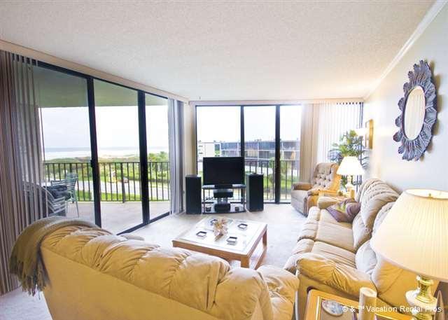 The floor to ceiling mirrors give you plenty of beach views - Anastasia 404 Condo, Tennis, Pool - Saint Augustine - rentals
