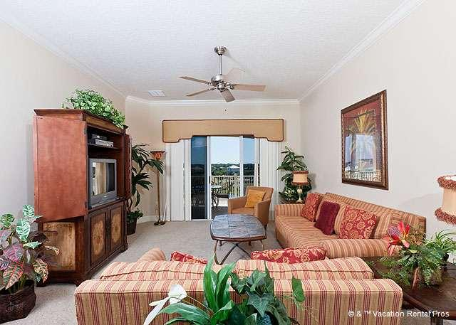 Our elegant condo is decorated with the colors of sunset - 1044 Cinnamon Beach, 4th Floor, Elevator, Wifi, 2 Heated Pools - Palm Coast - rentals