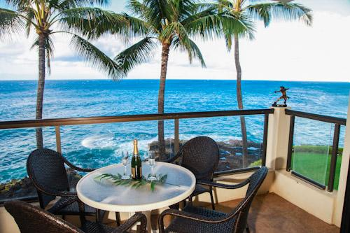 Picture yourself here, in the middle of the Pacific, trade winds blowing and you find yourself here. - Poipu Shores 303A OceanFRONT Elegance, 2BR/2BA - Poipu - rentals