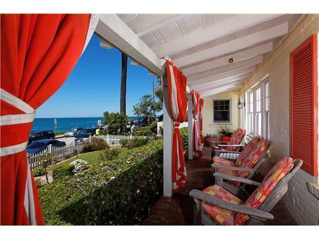 Front Porch - Ocean Front Luxury Cottage - La Jolla - rentals