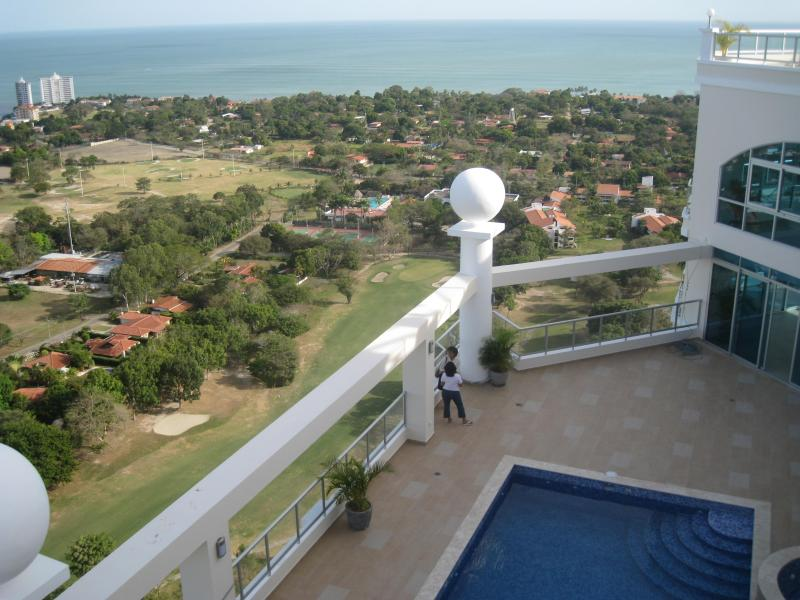 view from the upper pool on the ocean and golf course, Coronado Golf - a great place in Panama - Coronado Golf, new luxury condo near ocean beach! - Coronado - rentals