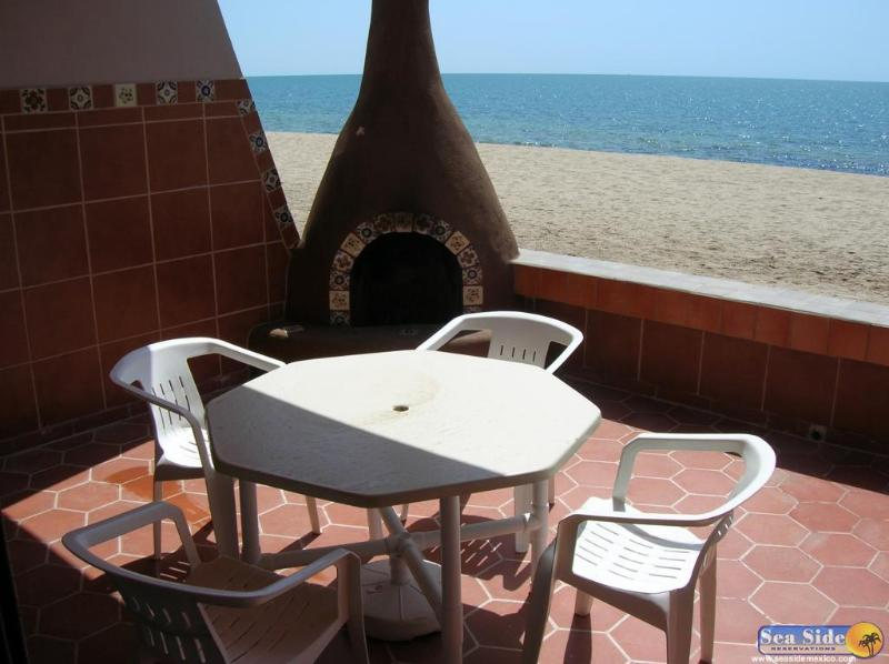 The patio and ocean - Ocean Front 2 Bed 2 Bath Minutes to Fish Market - Puerto Penasco - rentals