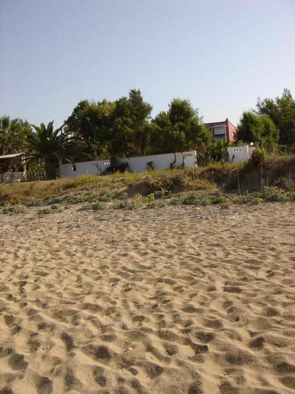 the house from the beach - Beachfront Villa-Sofia at Ionian coast, (4+2kids) - Preveza - rentals