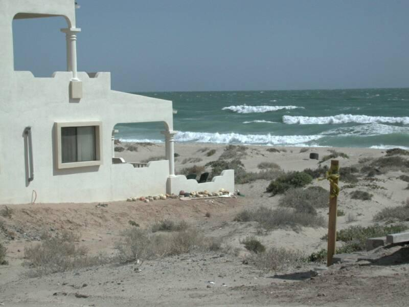 veiw you would see coming in to property - Private and Quiet Ocean Front Home - Puerto Penasco - rentals