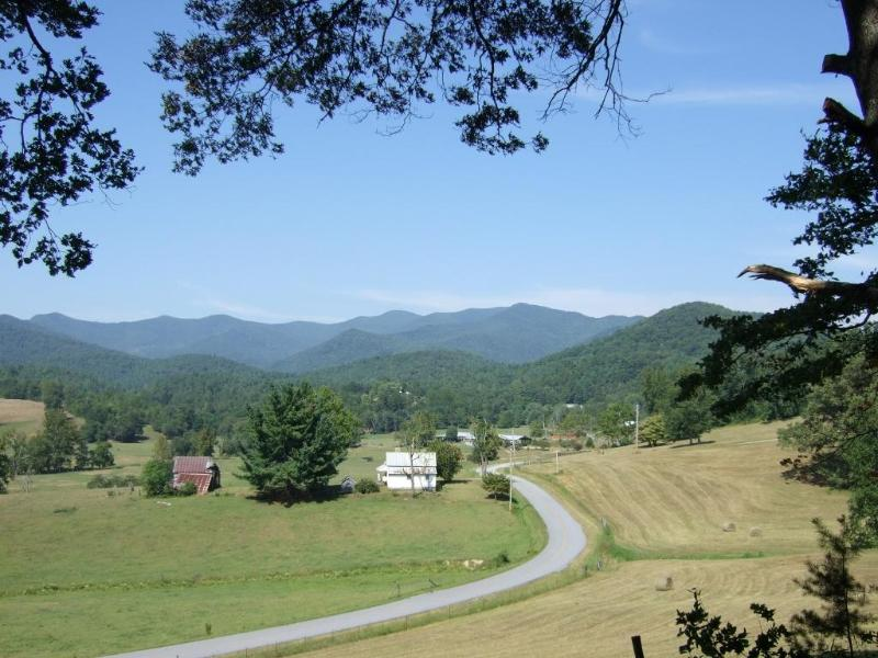Beautiful view toward Trackrock Valley with Brasstwon Bald in distance - Choestoe Sanctuary-See why others love our cabin - Blairsville - rentals