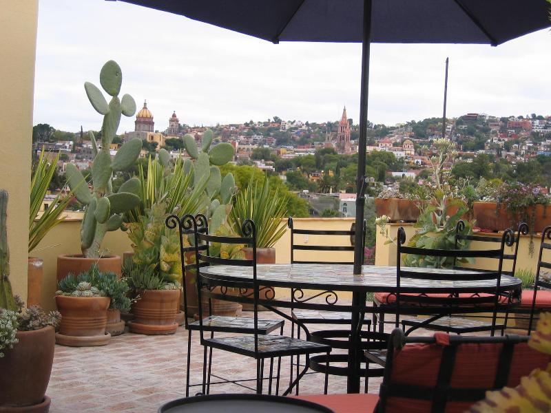 View from top terrace - Casa de Mira - 3 BR, 2 terrace casa w/ elevator - San Miguel de Allende - rentals