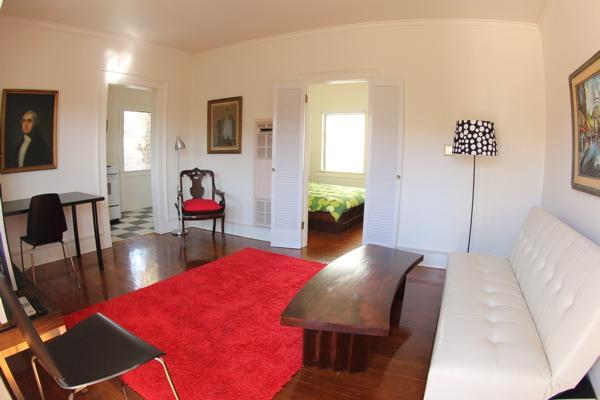 living room with sleeper sofa - Old Hollywood Made New in Hollywood/Los Feliz - Los Angeles - rentals