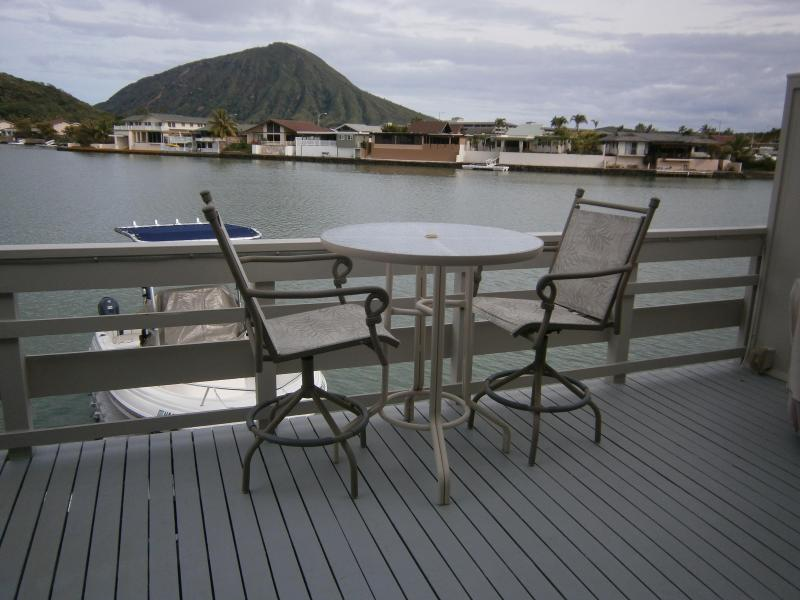 A Perfect place to eat a meal or have a beverage while viewing an exotic volcano, KoKo Crater - Water Ft TownHome with Exotic KoKo Crater Views - Hawaii Kai - rentals