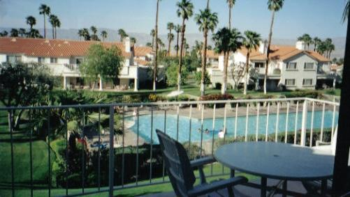 view from balcony - Beautiful condo w/ balcony overlooking large pool - Palm Desert - rentals