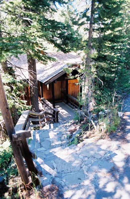Front Steps in Summer - Mountain Home in Exclusive Alpine Meadows Area - Lake Tahoe - rentals