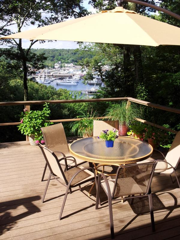 Restful and pieceful view of harbor from the deck - Breathtaking water views, truly peaceful retreat! - Port Jefferson - rentals