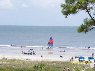 View of the ocean from the balcony - 362 Sea Side Villa 1 Bedroom- steps from the beach - Hilton Head - rentals