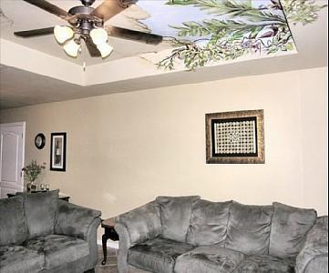 Living Area with comfortable furniture - So. Padre Is. Golf Course 2 bedrm Townhome - Laguna Vista - rentals