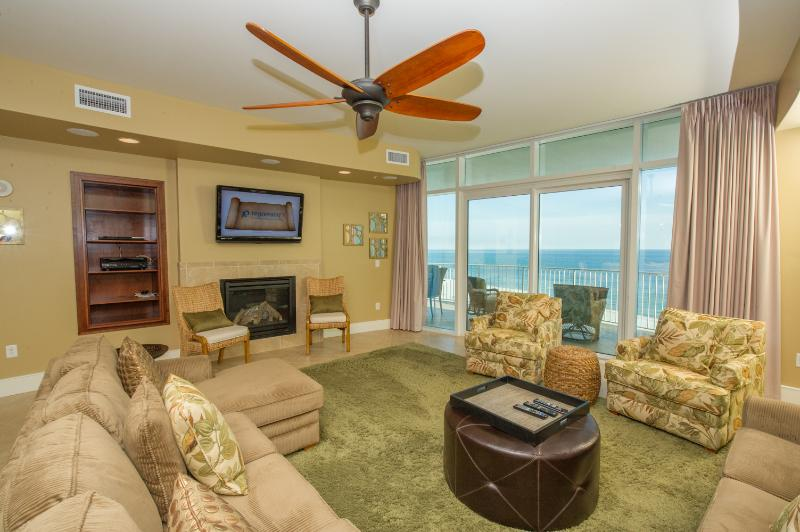 Luxury Beachfront Living Area with Balcony Access! - Turquoise Place 3BR Balcony Grill*4 Person Hot Tub - Orange Beach - rentals
