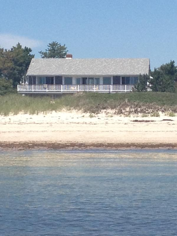 View from Nantucket Sound - Oceanfront Craigville,Private Beach FabulousSunset - Centerville - rentals
