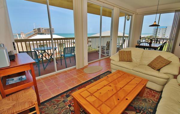 Living Room - Stunning Ocean/River View Retreat at Turtlemound! - New Smyrna Beach - rentals
