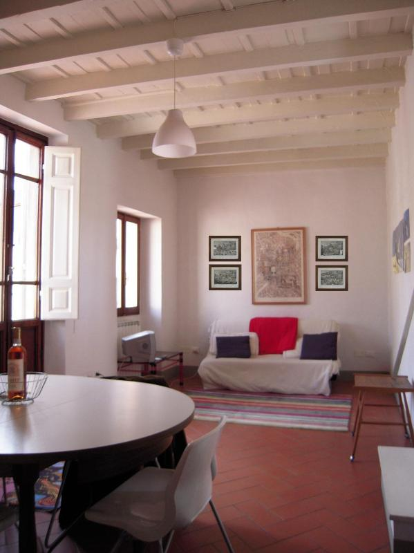 The living room - Penthouse with terrace near Florence Cathedral - Campione d'Italia - rentals